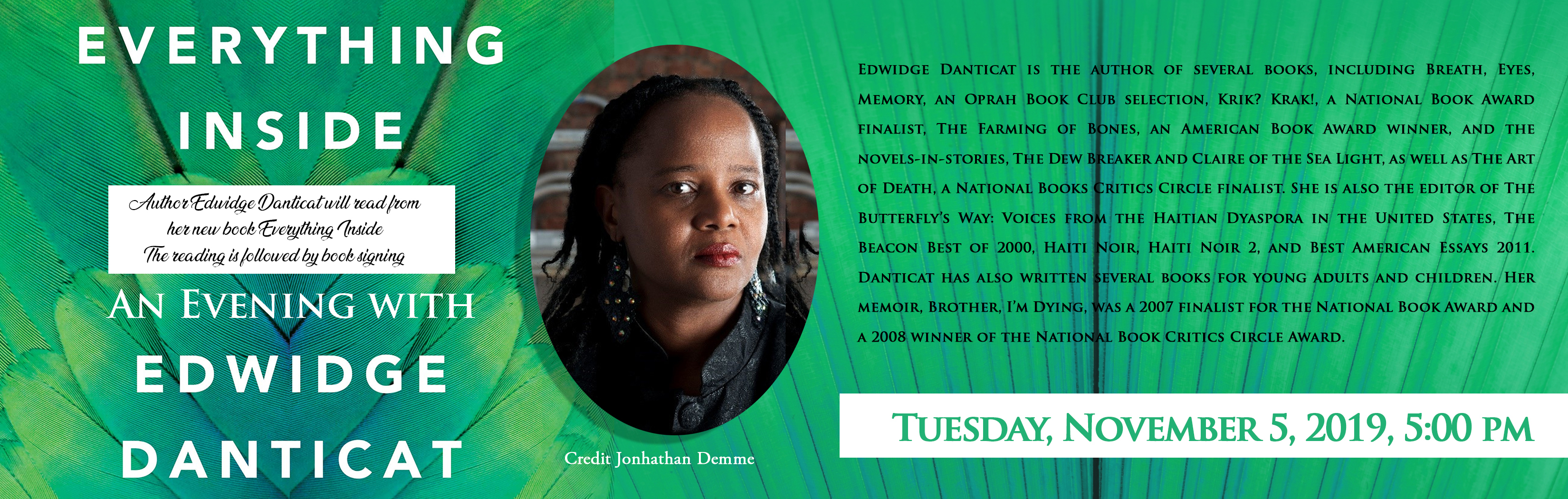 Everything Inside: Evening with  Edwidge Danticat