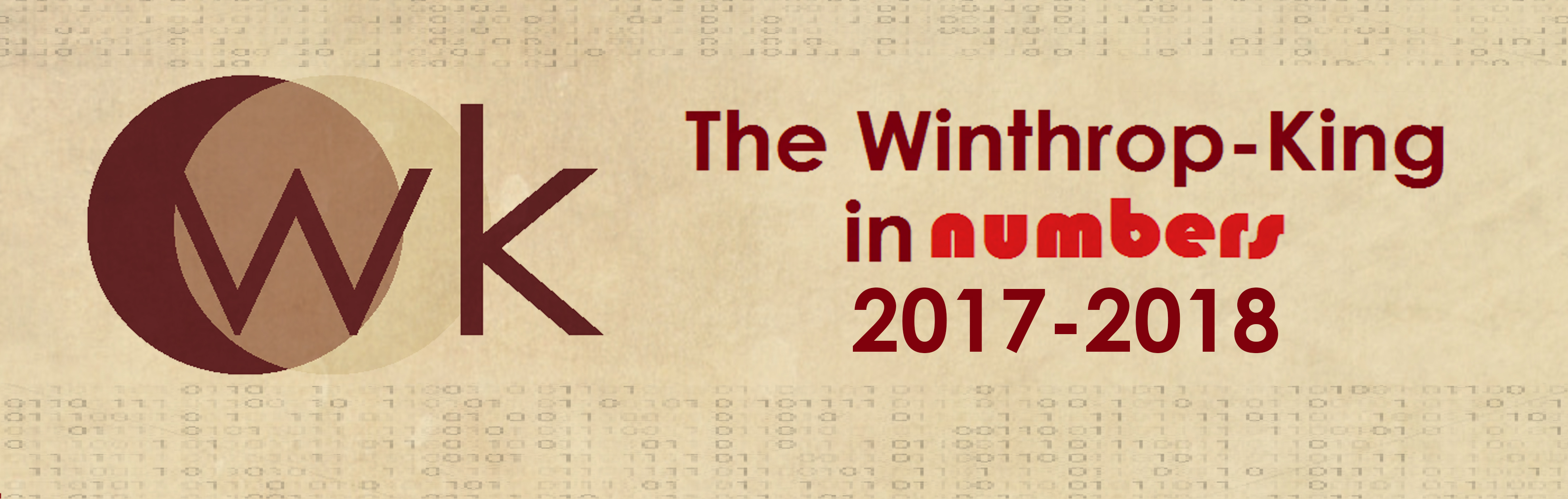 THE WINTHROP-KING INSTITUTE IN NUMBERS